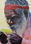 Koori Elder Print by Anne Gardner