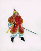 Municipal Mixed Media Prints - Korean Royal Guard Print by Charles Shoup