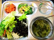 Salad Prints - Korean School Lunch Print by Claire-Marie Harris