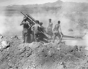 Barechested Prints - Korean War: Artillery Print by Granger