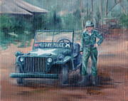 Korean War Paintings - Korean War Hero by Brenda Thour