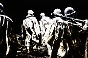 Korea Digital Art Posters - Korean War Memorial Poster by Bill Cannon