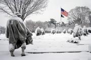 Washington D.c. Tapestries Textiles Prints - Korean War Memorial Print by Granger