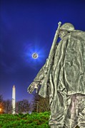 Moon Photo Framed Prints - Korean War Memorial Framed Print by Metro DC Photography