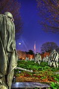 Moon Framed Prints - Korean War Memorial Part II Framed Print by Metro DC Photography