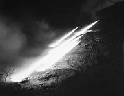 U.s. Army Prints - Korean War: Rocket Launch Print by Granger