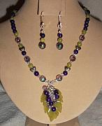 Grapes Jewelry - Koren Jade Grape Necklace Set by Kim Souza