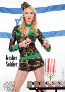 Girls Prints Mixed Media Prints - Kosher Soldier Print by Pin Up  TLV