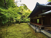 Prayer Room Posters - KOTO-IN ZEN TEMPLE MAPLE and MOSS GARDEN - KYOTO JAPAN Poster by Daniel Hagerman