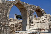 Roman Ruins Digital Art Posters - Kourion Arches Poster by Christopher Kelly