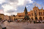 Market Digital Art Originals - Krakow main market by Boguslaw Florjan