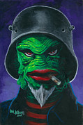 Creature From The Black Lagoon Prints - Kreetcha Print by Ben Von Strawn