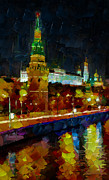 Siberia Digital Art - Kremlin Lights by Yury Malkov
