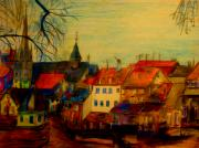 Color Pencil And Pencil Drawings - Kreuznach GERMANY by Allen n Lehman