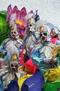 Portraits Metal Prints - Krewe of Rex  Metal Print by Kathleen K Parker