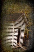 Corn Crib Photo Posters - Krib of Kalon farm Poster by The Stone Age
