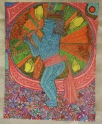 Praying Hands Prints - Krishna and his devotees Print by Khyati Mehra Sharma
