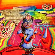 Chakra Drawings - Krishna by Jeffrey Kyker