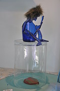 Blue Sculptures - Krishna by Michael Jude Russo