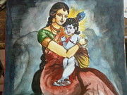 Lap Painting Originals - Krishna by Nisha Krishna