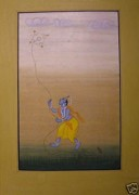 Unknown - Krishna playing kite.