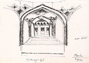 Arch Drawings - Krishnagiri Fort India by KaramChand Nanta