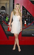 Two Tone Shoes Prints - Kristen Bell Wearing A Dress By J Print by Everett