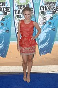 Red Dress Framed Prints - Kristen Bell Wearing A Stella Mccartney Framed Print by Everett