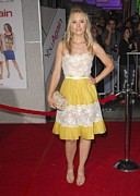 Belted Dress Posters - Kristen Bell Wearing A Valentino Dress Poster by Everett