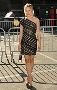 Little Black Dress Prints - Kristen Bell Wearing An Etro Dress Print by Everett