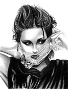 Eclipse Drawings - Kristen Stewart 2 by Crystal Rosene