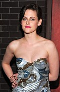 Strapless Dress Prints - Kristen Stewart Wearing An Emilio Pucci Print by Everett