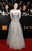 Strapless Dress Prints - Kristen Stewart Wearing An Oscar De La Print by Everett