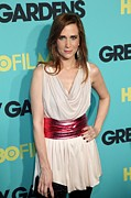 Magenta Dress Prints - Kristen Wiig At Arrivals For Grey Print by Everett