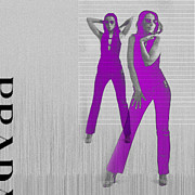 Colorful Woman Posters - Kristina in purple Poster by Irina  March