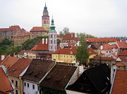 Czechia Framed Prints - Krumlov  Roofs Framed Print by Yury Bashkin