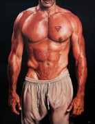 Physique Paintings - Kryptonite by Maciel Cantelmo