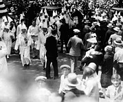 African Americans Framed Prints - Ku Klux Klan Parades In Queens Borough Framed Print by Everett