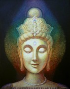 Buddhist Painting Prints - Kuan Yins Light Print by Sue Halstenberg