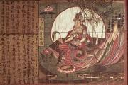 Compassion Paintings - Kuanyin Goddess of Compassion by Chinese School