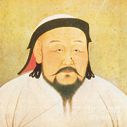 Ruler Posters - Kublai Khan, Emperor Of China, Yuan Poster by Photo Researchers