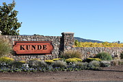 Winery Signs Prints - Kunde Family Estate Winery - Sonoma California - 5D19316 Print by Wingsdomain Art and Photography