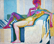 Reclining Paintings - Kupka Planes Nude by Granger