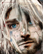 Kurt Cobain Metal Prints - Kurt Cobain - Verse Chorus Hearse Metal Print by Sam Kirk