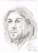Kurt Cobain Art - Kurt Cobain by Allison Jones