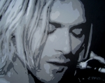 Pop Art Prints Painting Originals - Kurt Cobain by Ashley Price