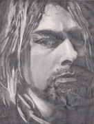 Nirvana Drawings - Kurt Cobain Drawing by Christian Fralick