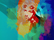 Grunge Art Prints - Kurt Cobain Print by Irina  March