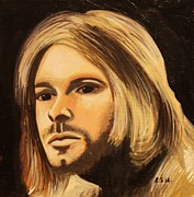 Kurt Cobain Art - Kurt Cobain by Rob Sweeney