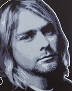 Pop Art Prints Painting Originals - Kurt Cobain by Sonny Forbes